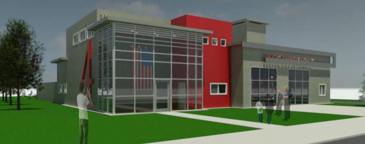 BIM model of a theoretical Fire Station