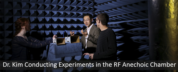 Dr Kim Conducting Experiments in the RF Anechoic Chamber