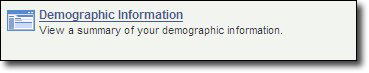 My Fresno State PeopleSoft HCM Demographic Information Image