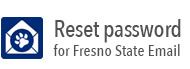 Reset password Fresno State email icon
