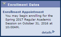 Enrollment Dates