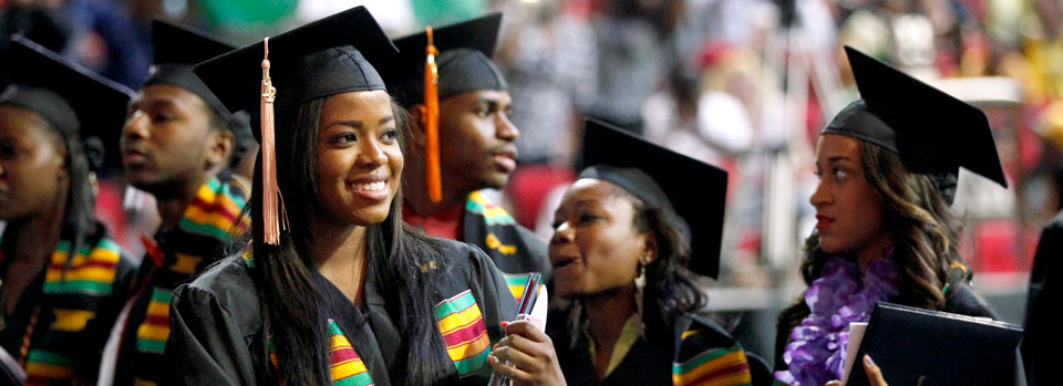African American student at Commencement