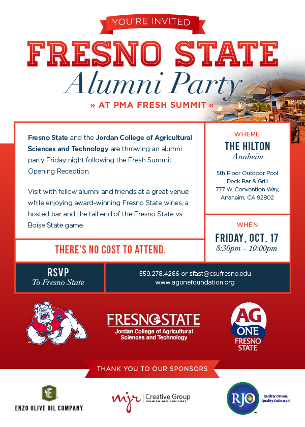 Fresno State Social at PMA Invitation