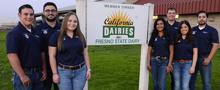 Fresno State Dairy Club Officers 2016-17