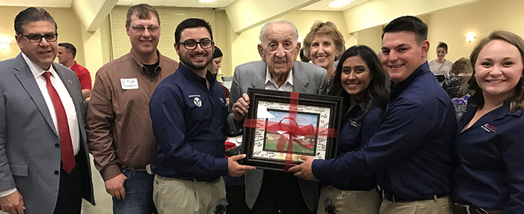 Manuel J.R. Mancebo, Fresno State dairy club officers, President Castro, Dean Witte