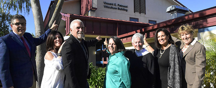 Petrucci viticulture building renaming event