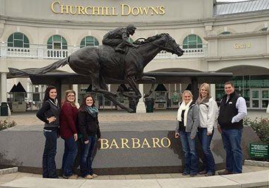 Fresno State Livestock Club Team visiting Churchill Downs