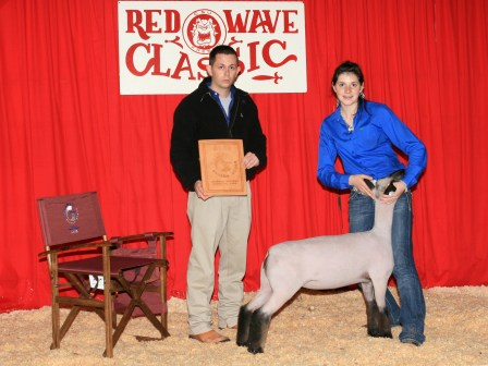 Reserve Grand Champion lamb 2010