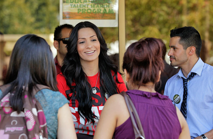 A RSP student taking part in an event on Fresno state campus