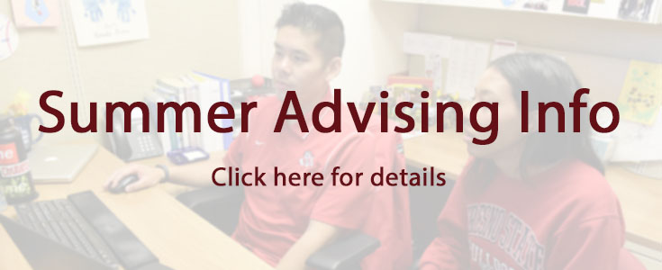 2021 Summer advising information page graphic