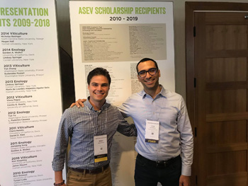 ASEV 2019 National Conference Matteo Ramagli and Dr. L. Brillante